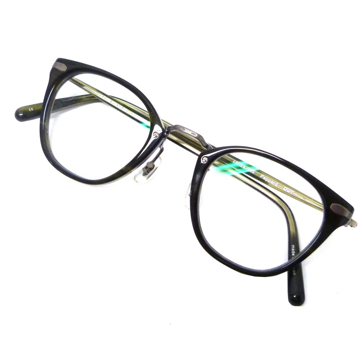 【中古】OLIVER PEOPLES 「Peppard DOT」眼鏡 クリア×カーキ サイズ:- 【150420】(オリバーピープルズ)