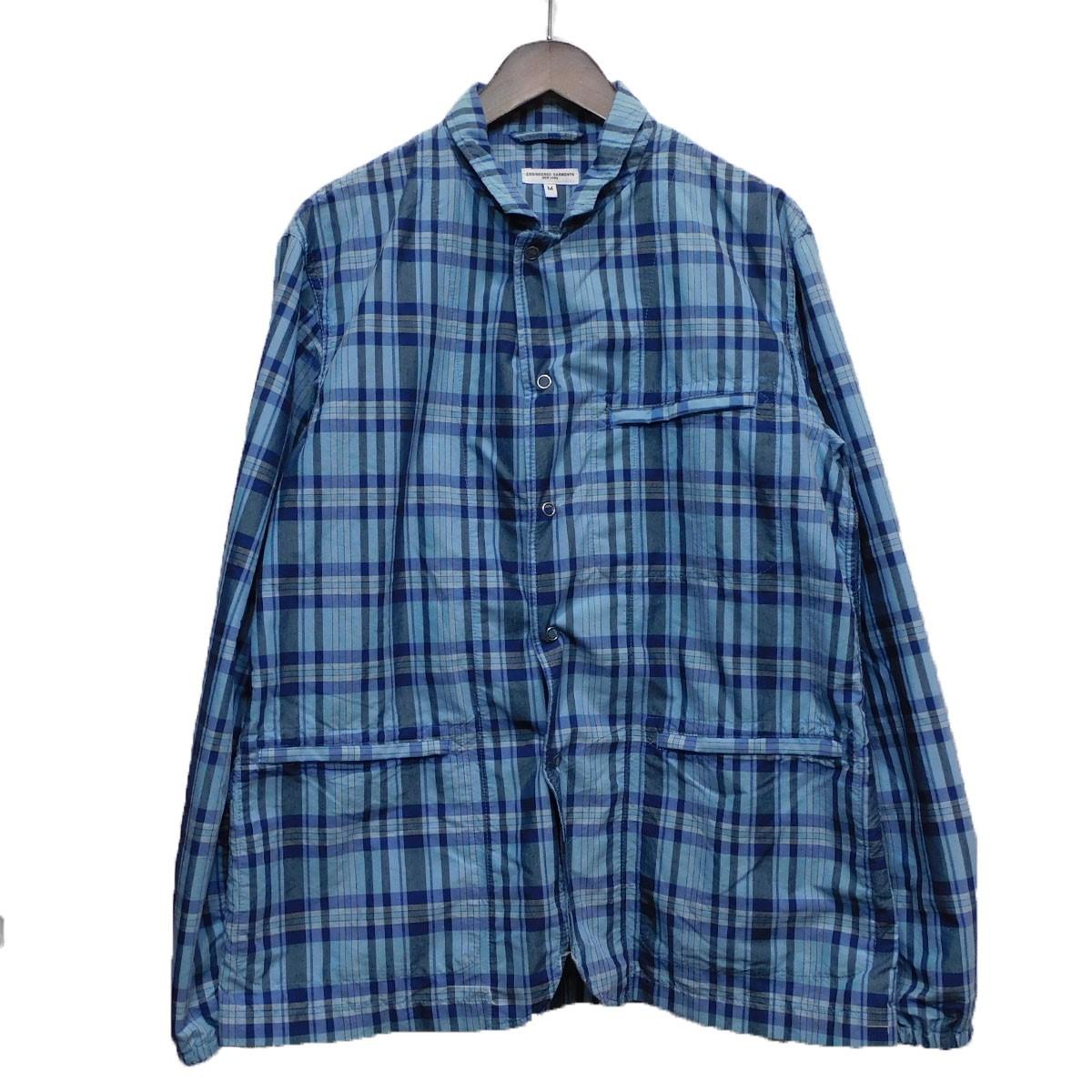 【中古】Engineered Garmentsチェックカバーオール ブルー サイズ:M 【5月11日見直し】