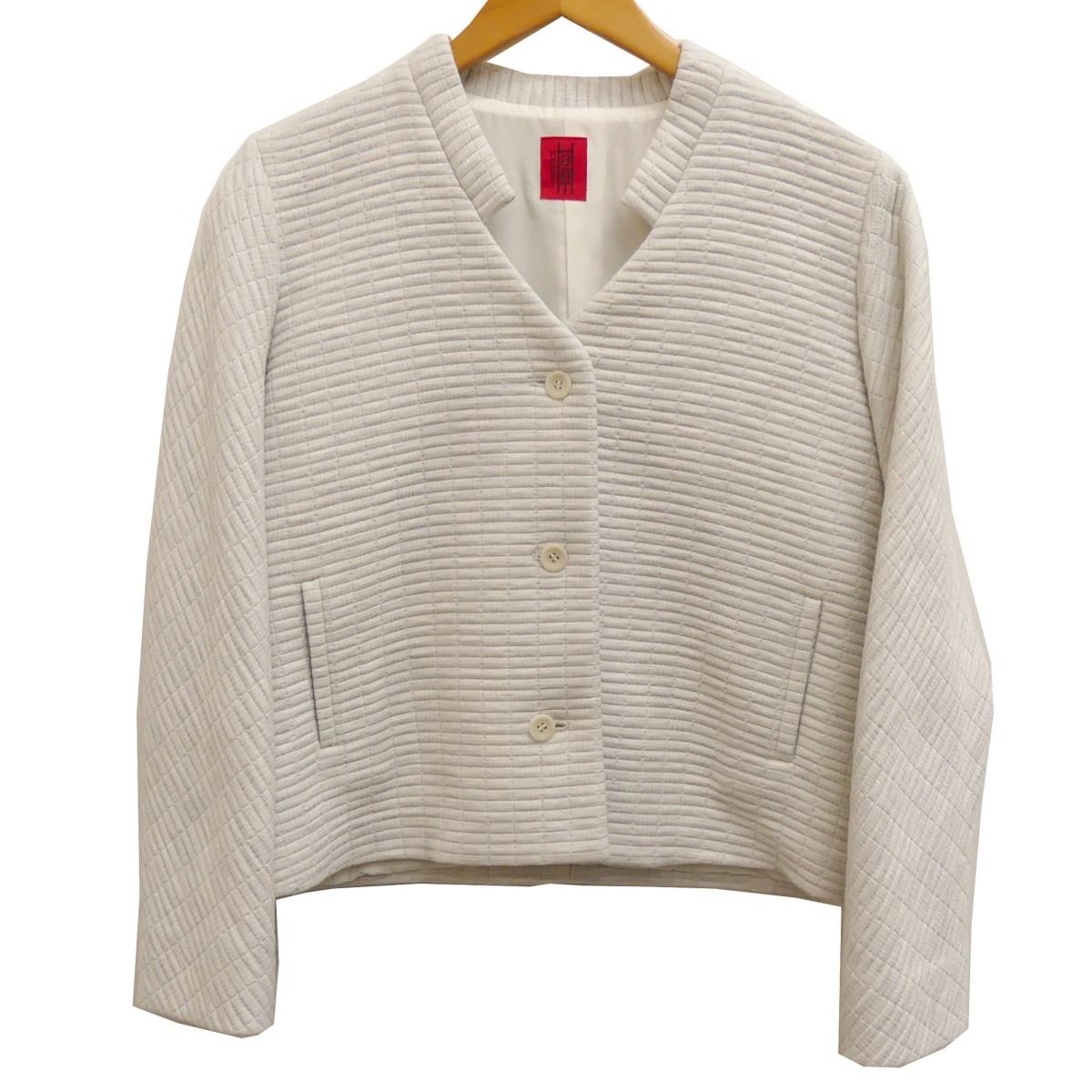 【中古】HaaT 18SS ノーカラージャケット ホワイト サイズ:2 【160420】(ハート)