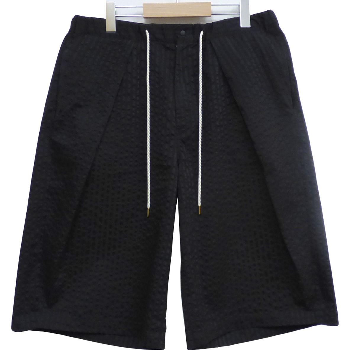 【中古】SASQUATCHfabrix. Baseball Shortsベースボールオーバーサイズショーツ ブラック サイズ:SIZE XL(~94cm) 【150420】(サスクワァッチファブリックス.)