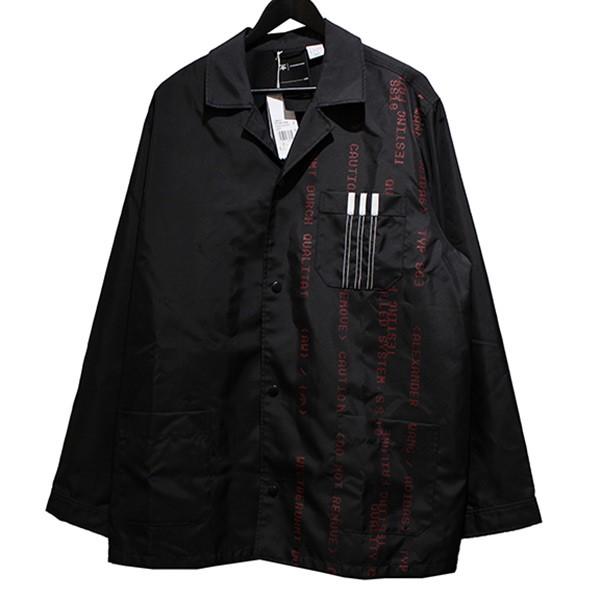 【中古】adidas originals by Alexander Wang AW Coach Jacket ストライプロゴ コーチ ジャケット ブラック サイズ:L 【150420】(アディダスオリジナルス バイ アレキサンダーワン)