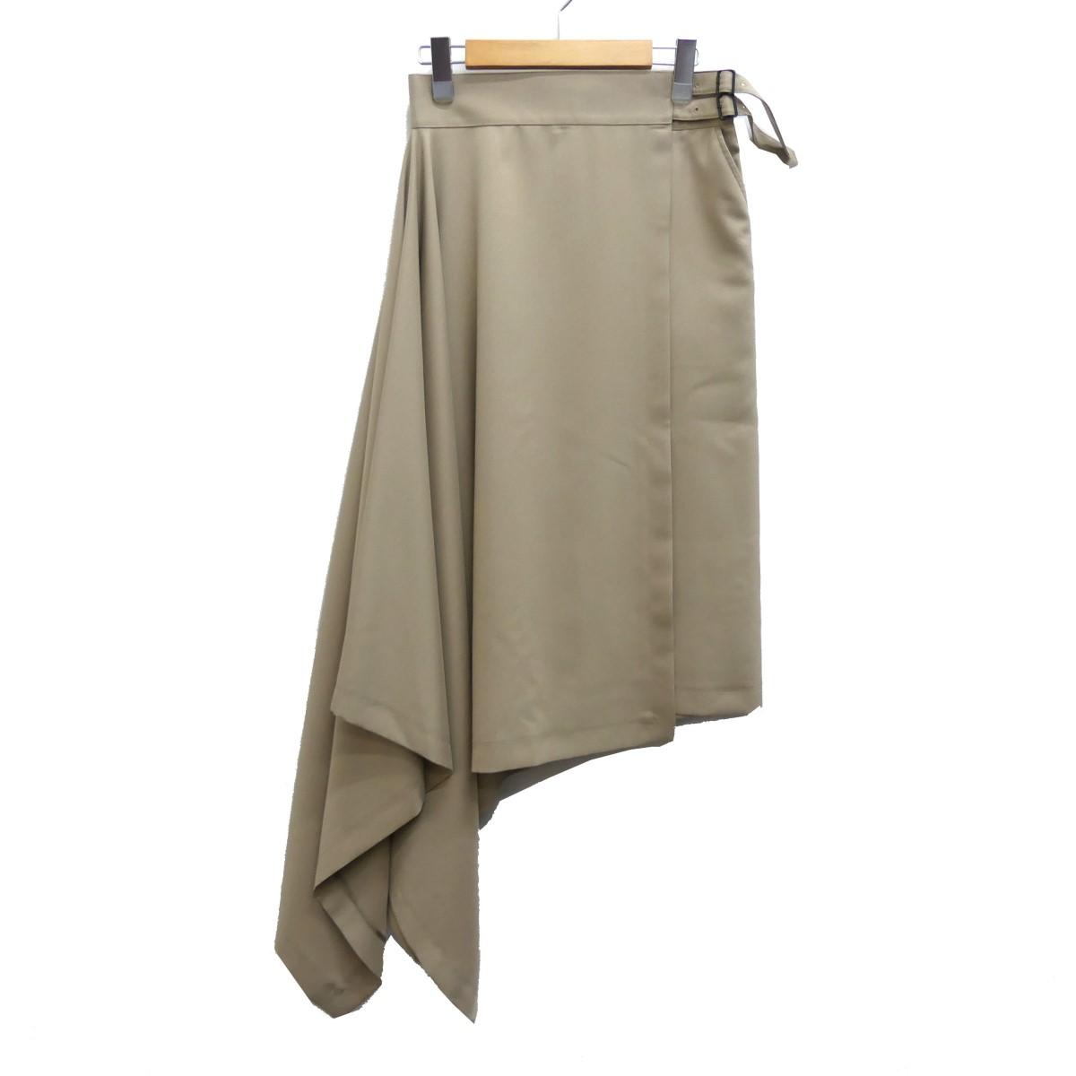 【中古】HYKE 19SS アシンメトリースカート ベージュ サイズ:1 【160420】(ハイク)