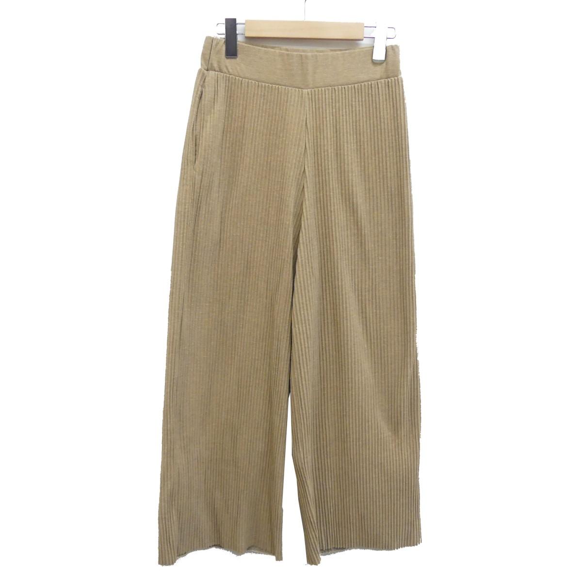 【中古】DEUXIEME CLASSE 19SS PLEATS PANTS プリーツパンツ ベージュ サイズ:F 【160420】(ドゥーズィエムクラス)