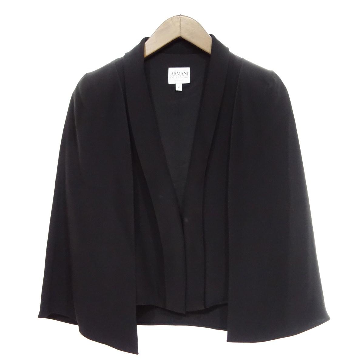 【中古】ARMANI COLLEZIONI デザイン ジャケット ブラック サイズ:40 【160420】(アルマーニコレツィオーニ)