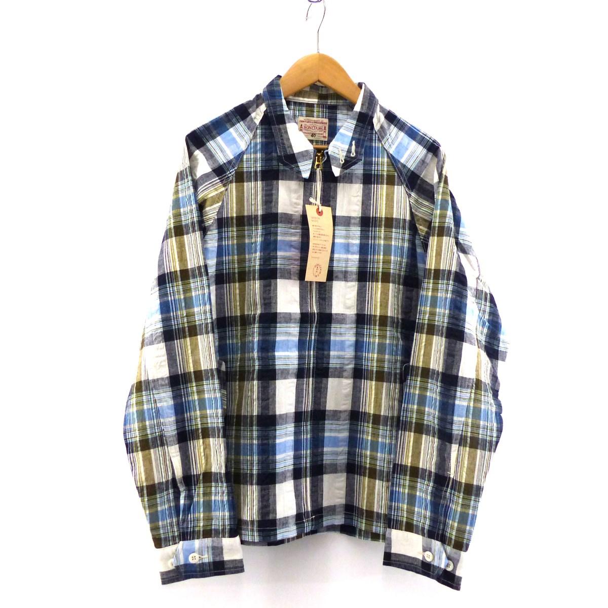 【中古】BONCOURA ジップアップチェックジャケット マルチカラー サイズ:40 【160420】(ボンクラ)