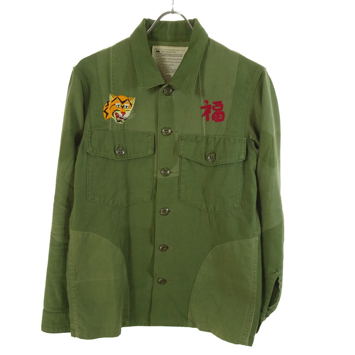 【中古】INK Remake Vietnam Army Shirts リメイク加工ジャケット オリーブ サイズ:M 【160420】(インク)