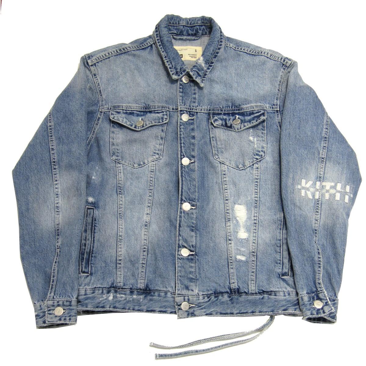 【中古】KITH 2020SS LAIGHT DENIM JACKET デニムジャケット ブルー サイズ:S 【160420】(キス)