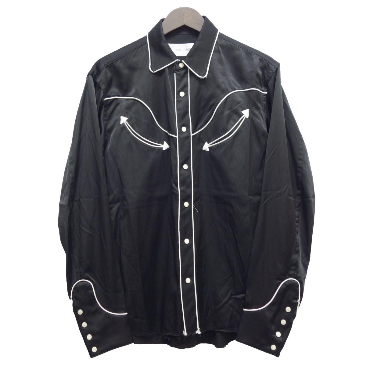 【中古】JOHN MASON SMITH ウエスタンシャツ ブラック サイズ:S 【160420】(ジョンメイソンスミス)