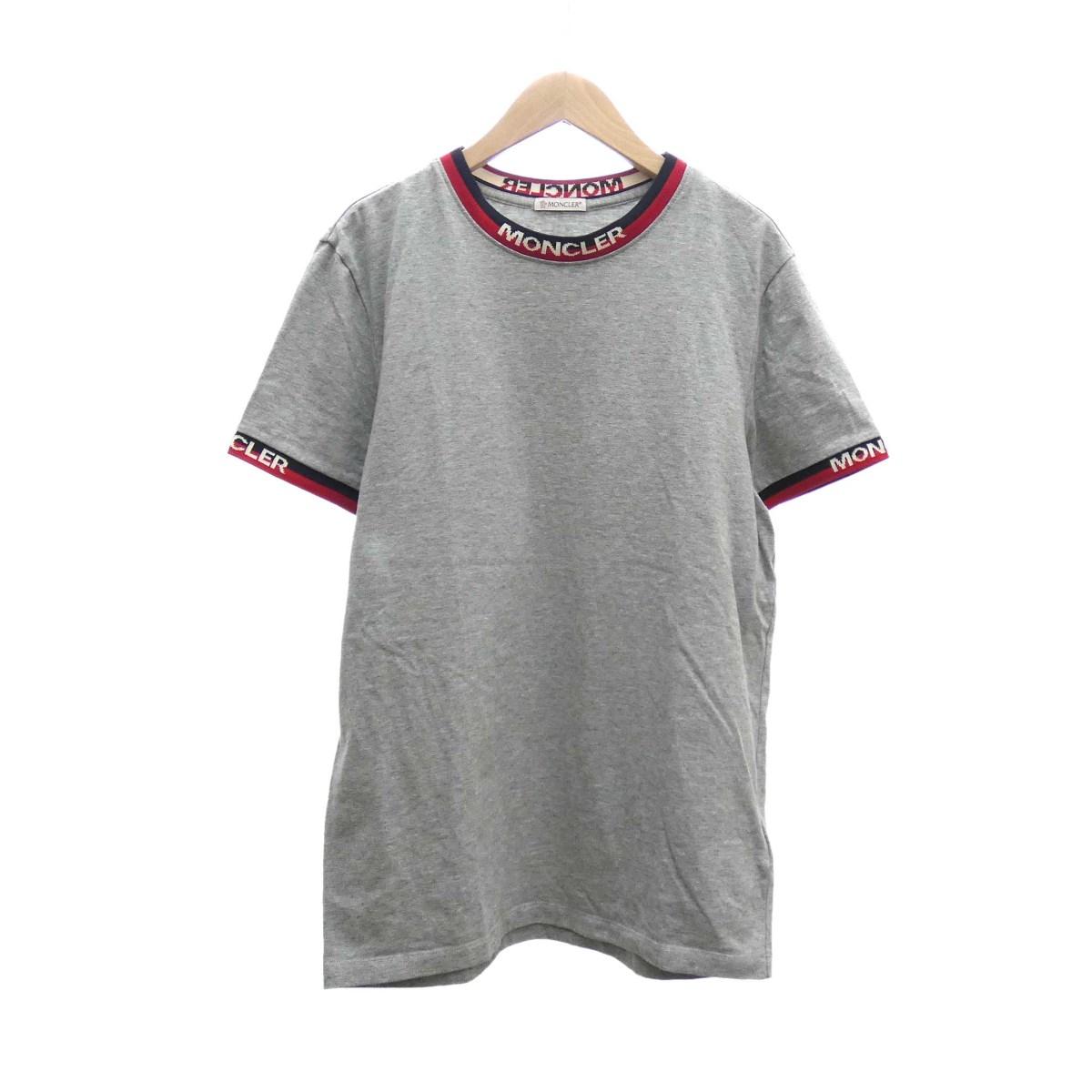 【中古】MONCLER 半袖Tシャツ 2019SS グレー サイズ:S 【160420】(モンクレール)