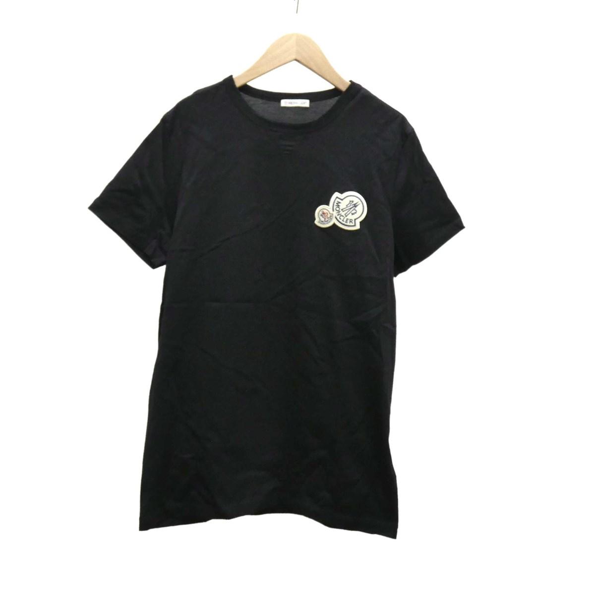 【中古】MONCLER 半袖Tシャツ 2019AW ブラック サイズ:S 【160420】(モンクレール)