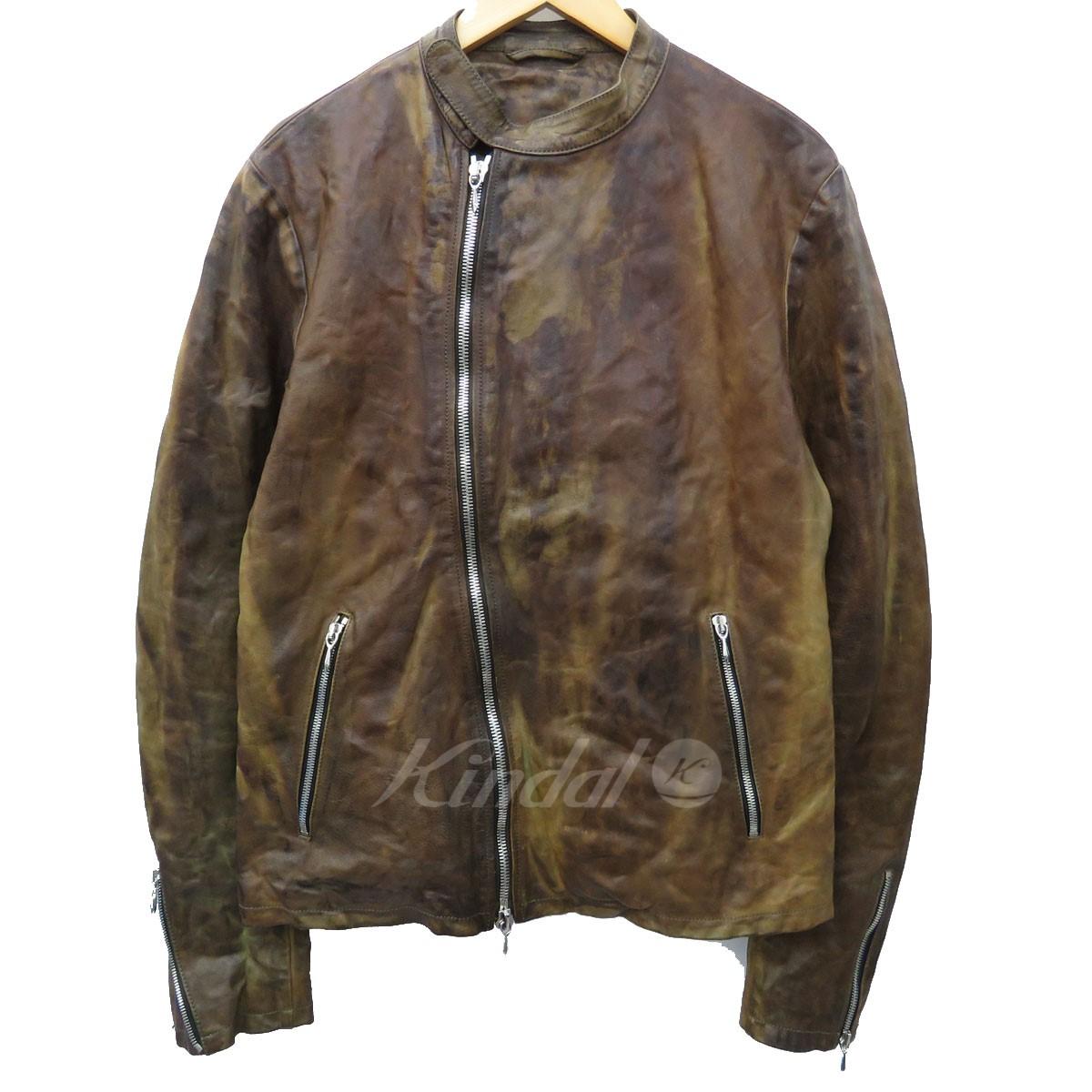 【中古】THE INCARNATION 加工シングルライダーズジャケット ブラウン サイズ:- 【160420】(ザ インカネーション)