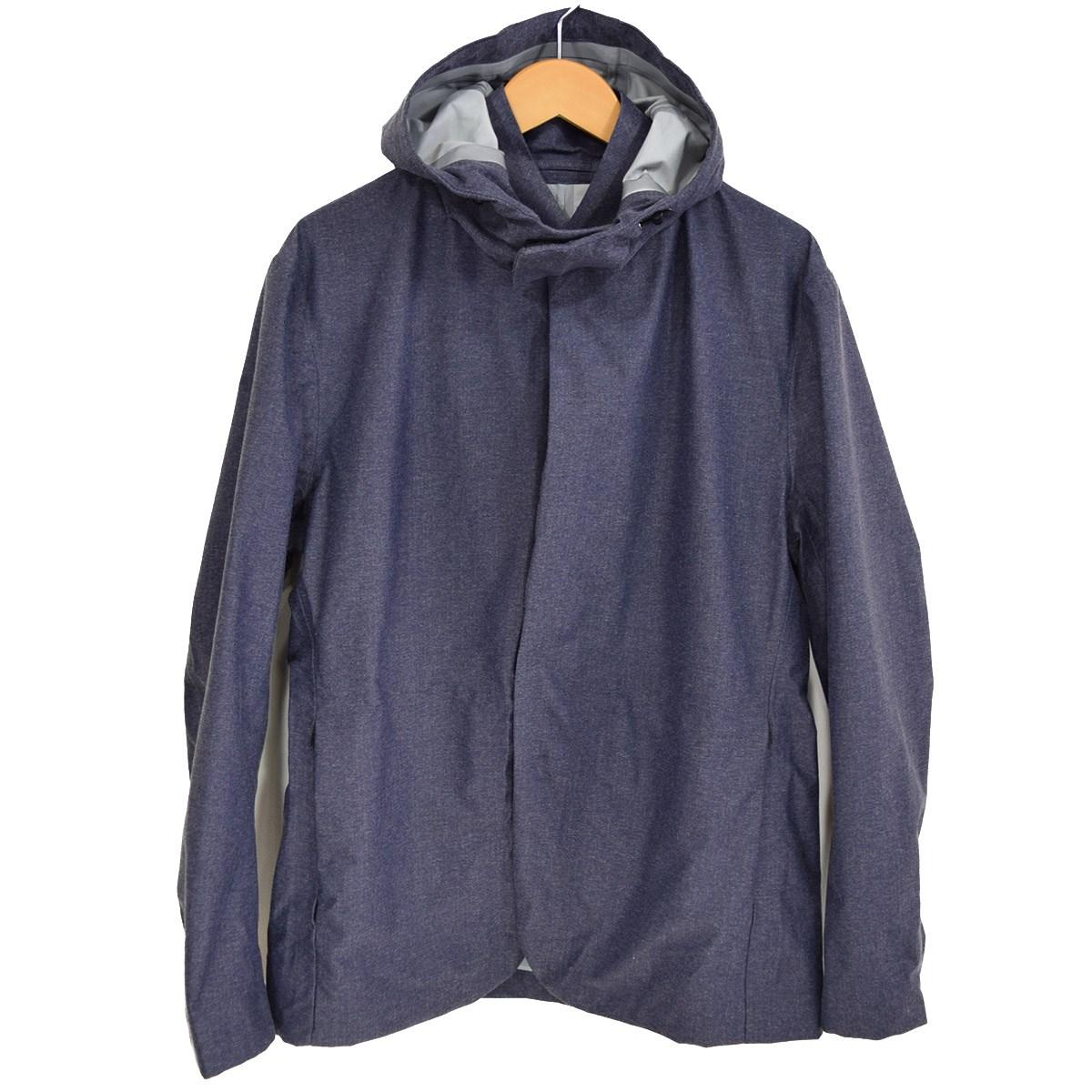 【中古】MINOTAUR WATERPROOF フード付 テーラードジャケット インディゴ サイズ:L 【160420】(ミノトール)