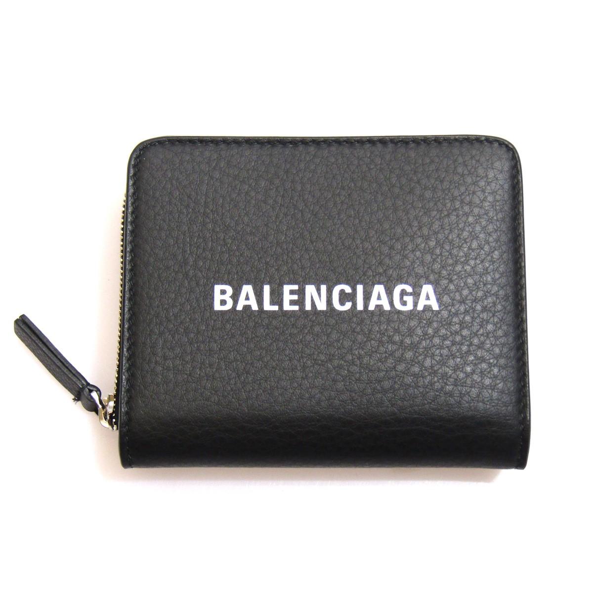 【中古】BALENCIAGA EVERYDAYシリーズ コンパクトウォレット/ラウンドファスナー ブラック サイズ:- 【160420】(バレンシアガ)