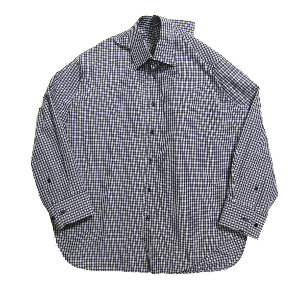 【中古】BALENCIAGA 2017SS Pinched color/ピンチドカラーシャツ ブルー×グレー サイズ:34 【160420】(バレンシアガ)