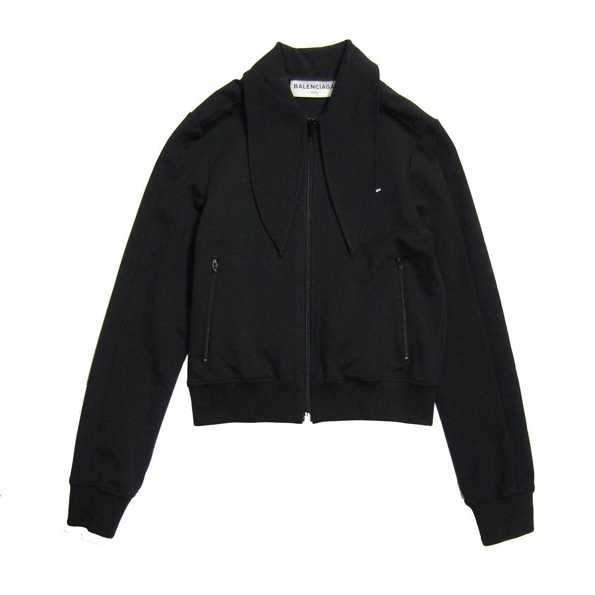 【中古】BALENCIAGA トラックジャケット ブラック サイズ:36 【160420】(バレンシアガ)