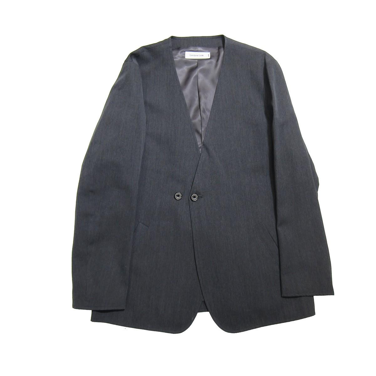 【中古】Com2ons Code ノーカラージャケット グレー サイズ:1 【170420】(コモンスコード)