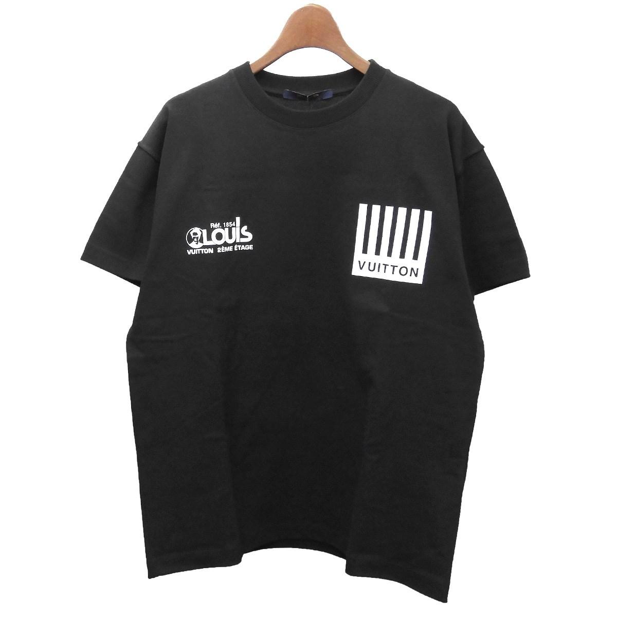【中古】LOUIS VUITTON 2019AW マルチロゴモノグラムフラワープリンテッドTシャツ ブラック サイズ:XS 【170420】(ルイヴィトン)