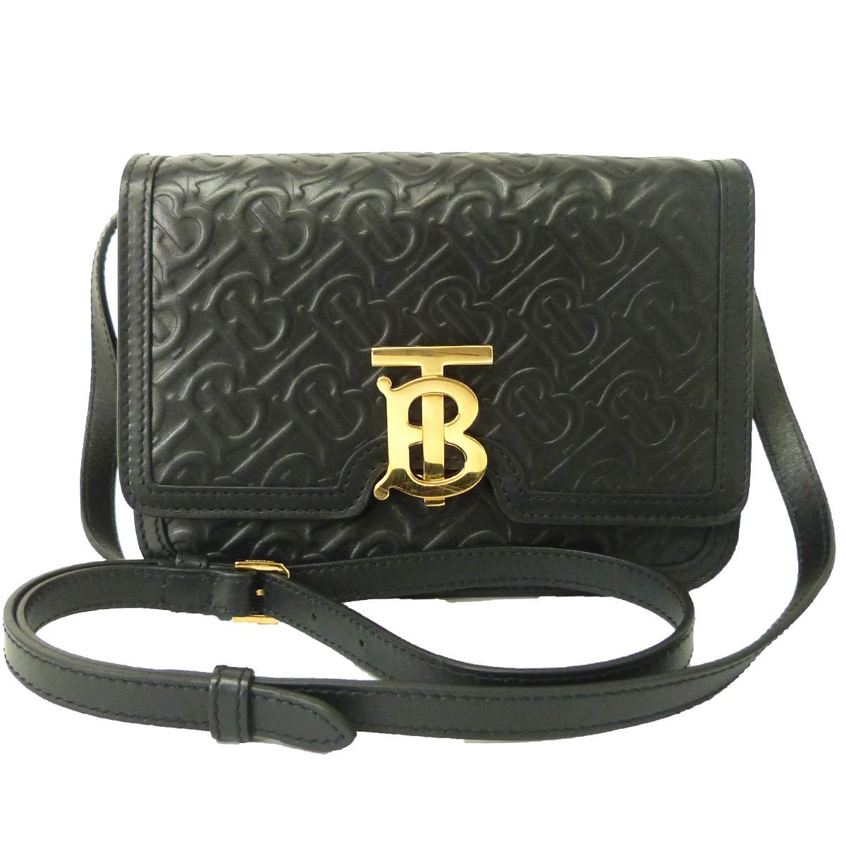 【中古】BURBERRY ミニキルティングモノグラムTBバッグ ブラック サイズ:- 【170420】(バーバリー)
