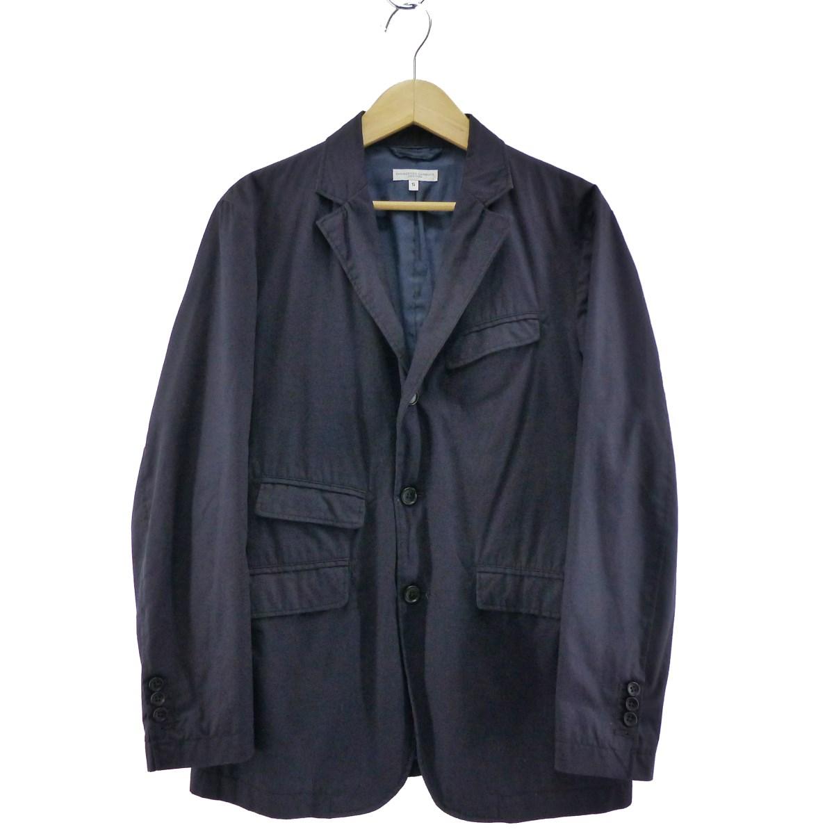 【中古】Engineered GarmentsHigh Count Twill Andover Jacket ネイビー サイズ:S 【5月11日見直し】