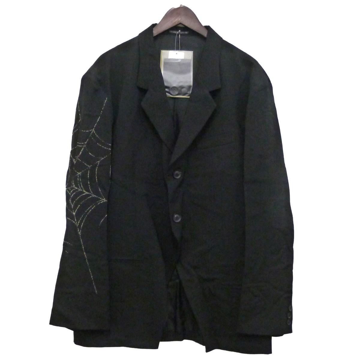 【中古】BLACK SCANDAL YOHJI YAMAMOTO 18AW蜘蛛の巣ジャケット ブラック サイズ:3 【170420】(ブラックスキャンダルヨウジヤマモト)