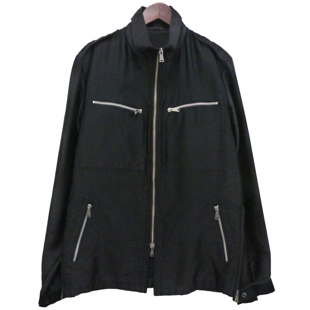 【中古】YOHJI YAMAMOTO pour homme シルクジャケット ブラック サイズ:3 【170420】(ヨウジヤマモトプールオム)