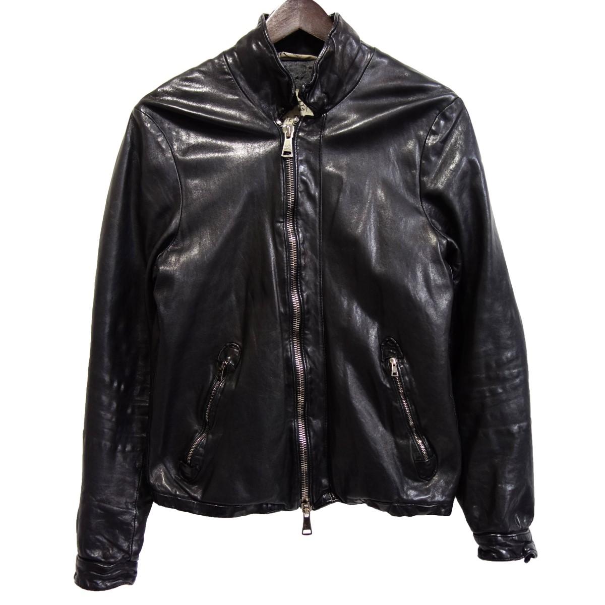 【中古】GIORGIO BRATO ラムレザージャケット ブラック サイズ:46 【170420】(ジョルジオブラット)