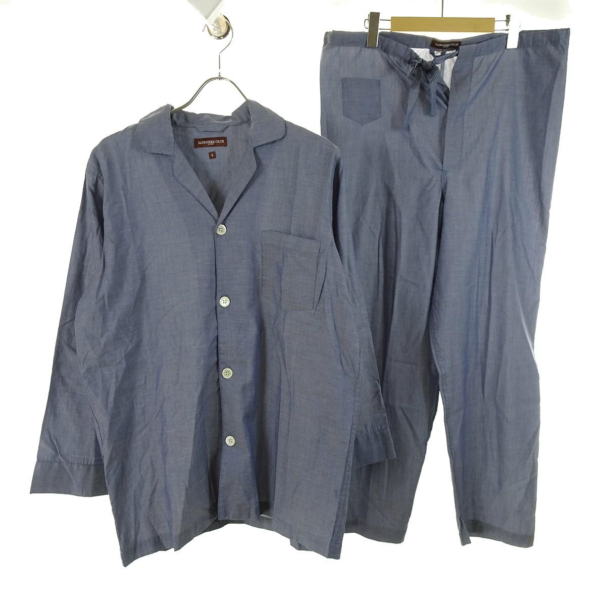 【中古】ALEXANDER OLCH セットアップパジャマ ブルー サイズ:S 【170420】(アレキサンダー オルチ)
