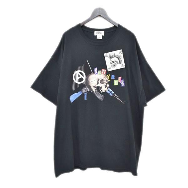 【中古】KIDILL プリントTシャツ ブラック サイズ:FREE 【180420】(キディル)