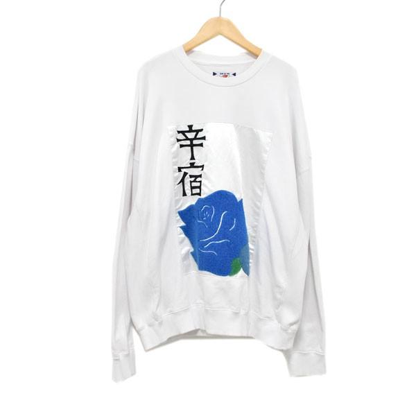 【中古】SON OF THE CHEESE SHINJUKU SWEAT クルーネックスウェットトレーナー ホワイト サイズ:M 【180420】(サノバチーズ)