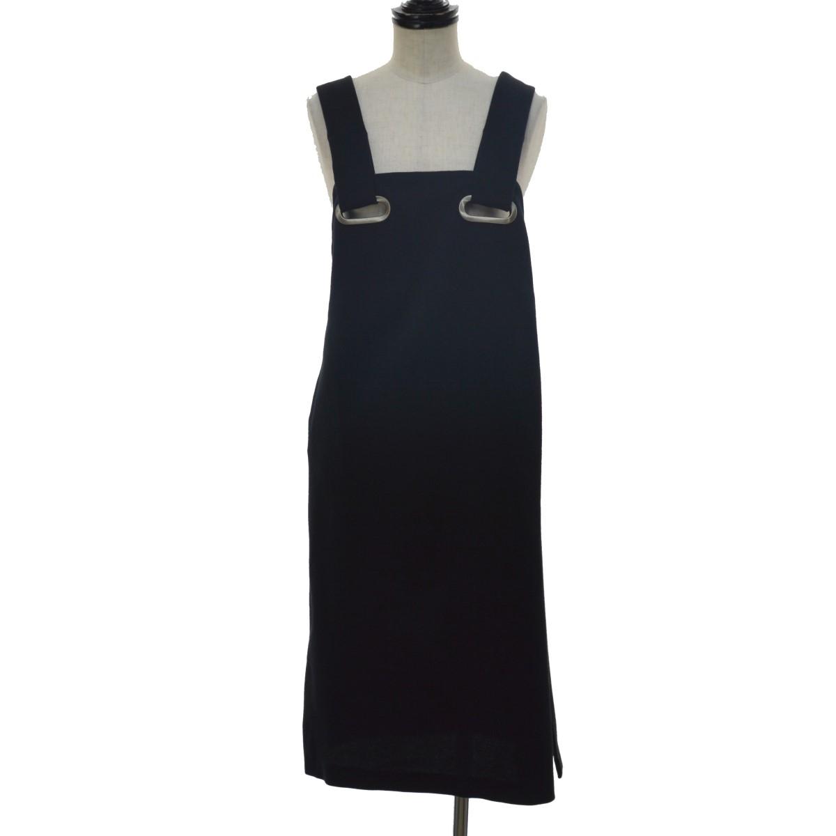 【中古】TOGA PULLA 17SS サイドスリットドレス ネイビー サイズ:38 【180420】(トーガ プルラ)