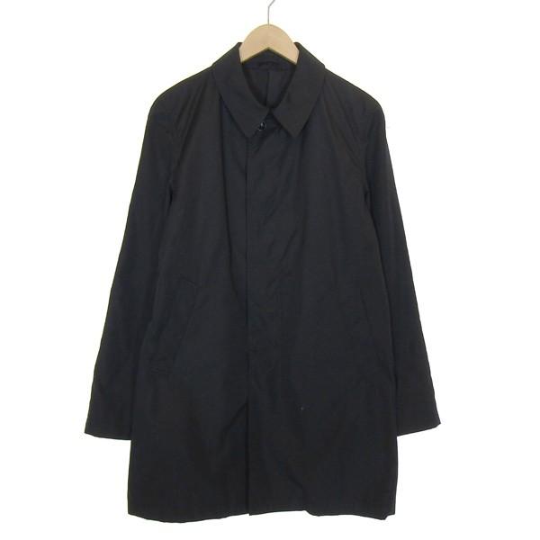 【中古】Stussy ×sophet ステンカラーコート ブラック サイズ:L 【170420】(ステューシー)