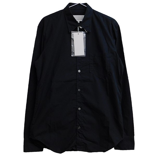 【中古】Martin Margiela 10 2018SS コットンシャツ ブラック サイズ:39 【170420】(マルタンマルジェラ 10)