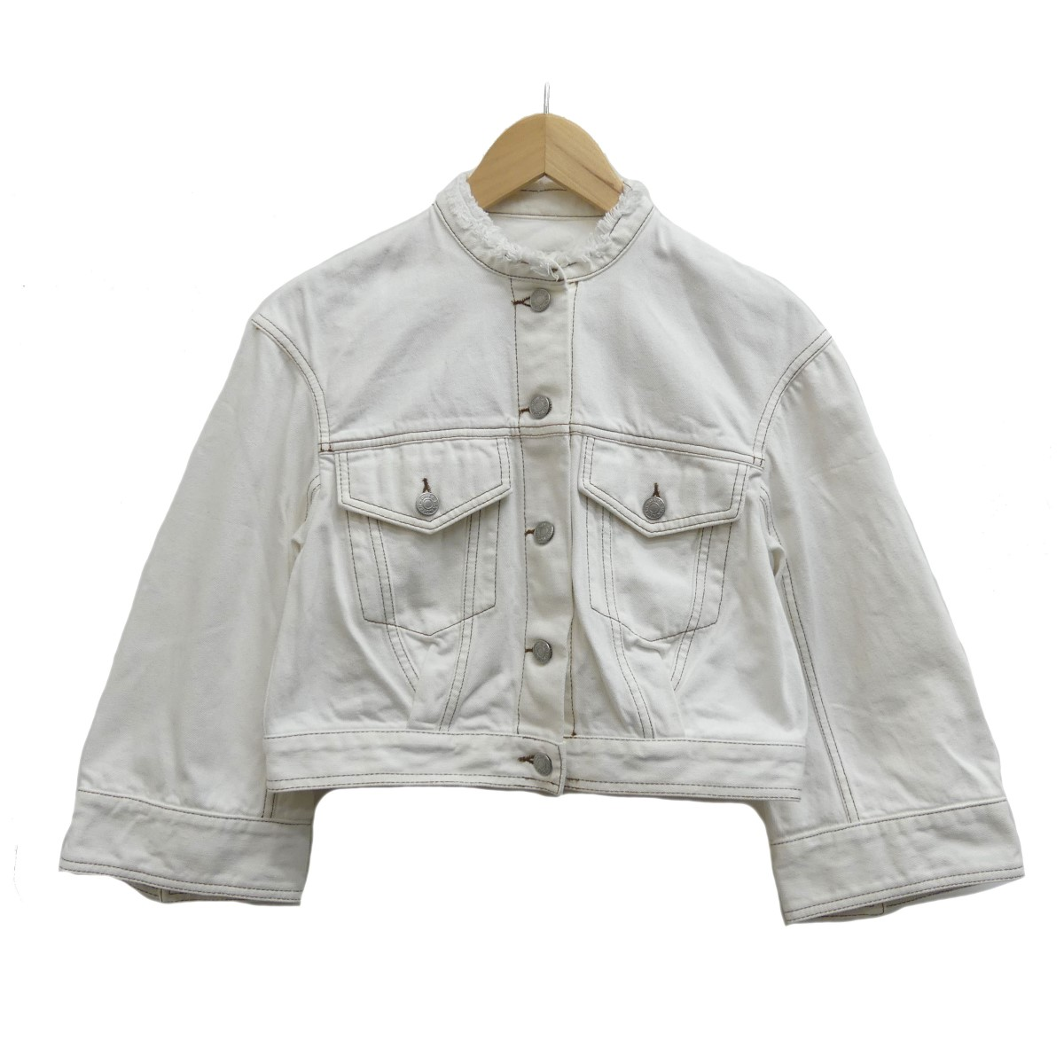 【中古】DRIES VAN NOTEN 16SS デニムジャケット ホワイト サイズ:34 【190420】(ドリスヴァンノッテン)