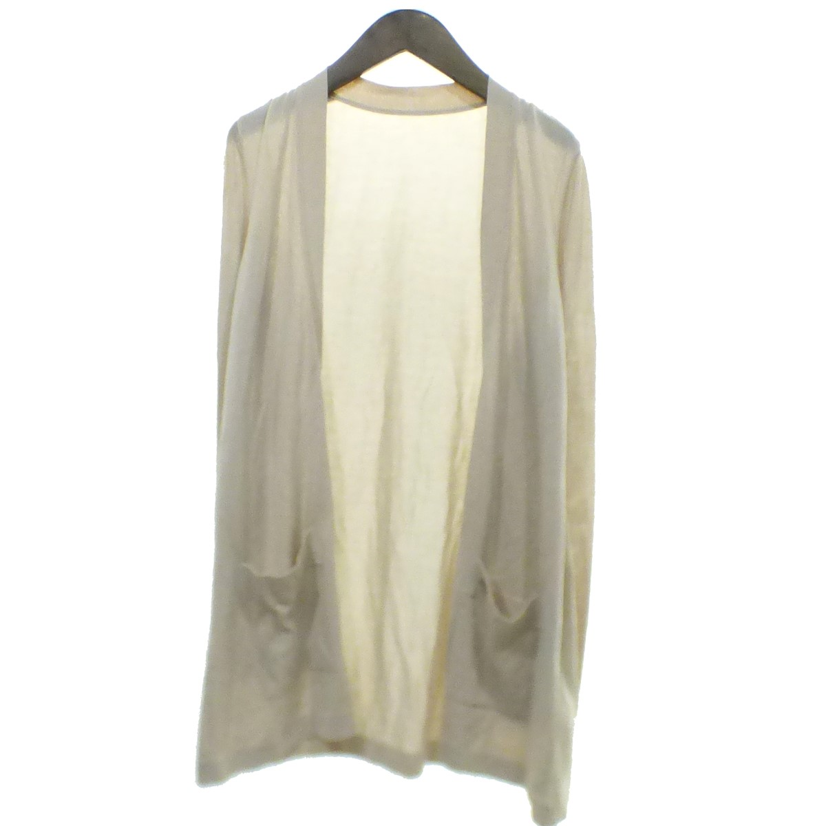 【中古】FOXEY Cardigan Airy Long ベージュ 【180420】(フォクシー)