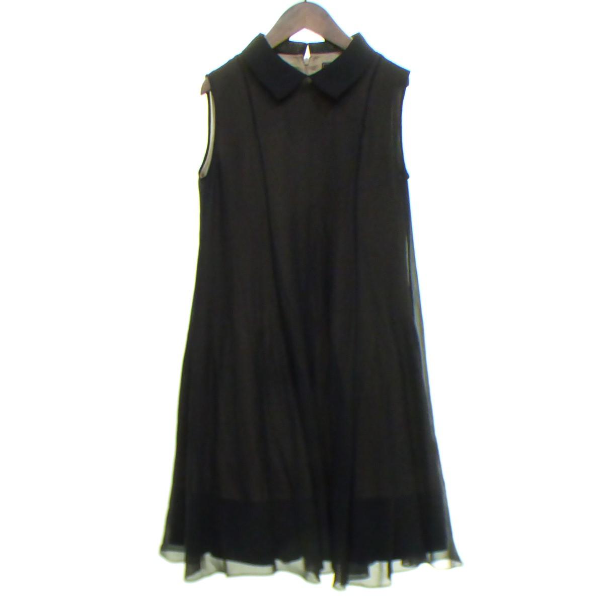 【中古】FOXEY 【2018】 Dress/Chalotte ドレスワンピース ブラック サイズ:38 【180420】(フォクシー)