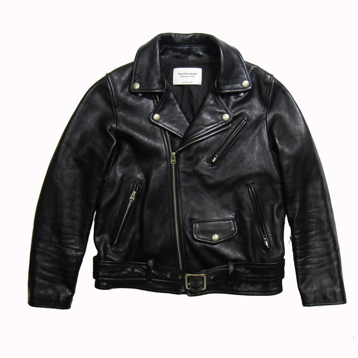 【中古】beautiful people vintage leather riders jacket/ヴィンテージライダースジャケット ブラック サイズ:150 【180420】(ビューティフルピープル)