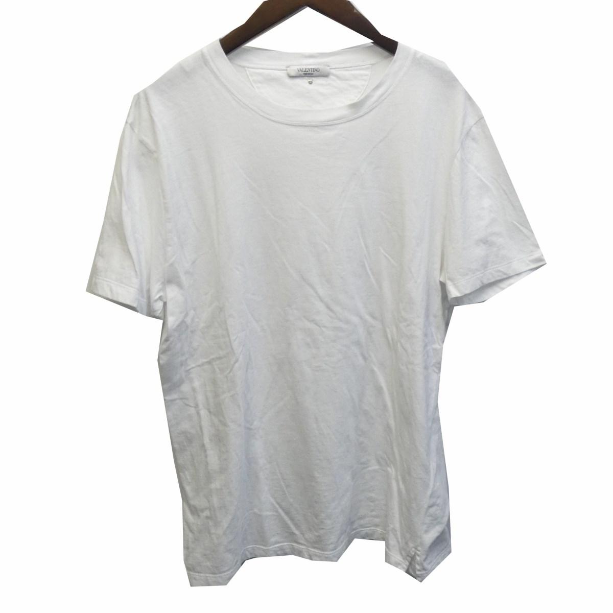 【中古】VALENTINO ロックスタッズTシャツ ホワイト サイズ:L 【180420】(ヴァレンチノ)