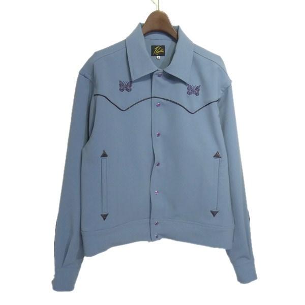 【中古】Needles 2020SS「Papillon Emb.Piping Cowboy Shirt Pe」ジャケット サックスブルー サイズ:S 【190420】(ニードルス)