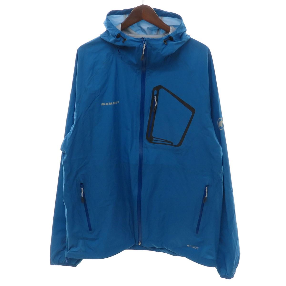 【中古】MAMMUT エアロスピード ジャケット マウンテンパーカー 1010-25310 ブルー サイズ:JP:2XL 【190420】(マムート)