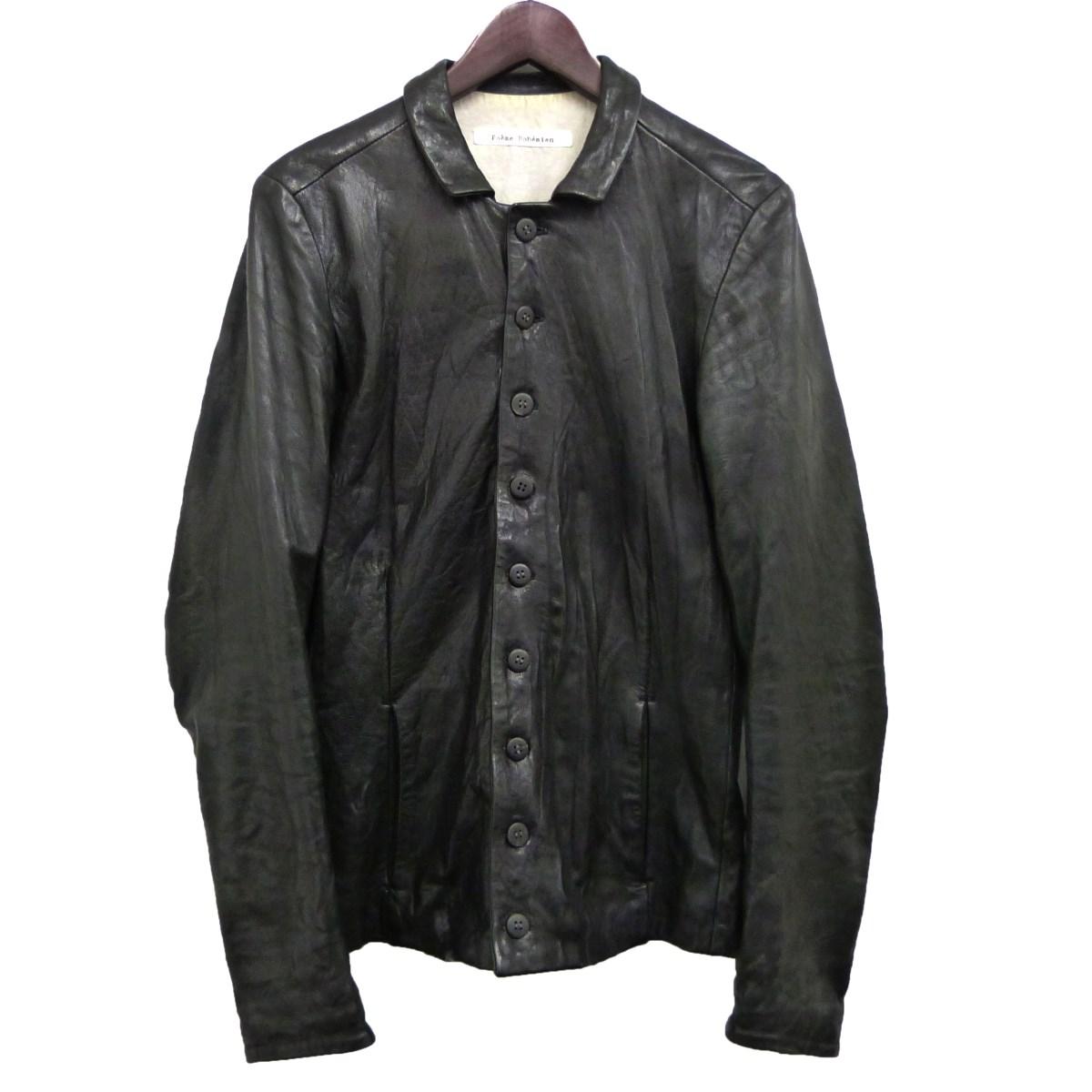 【中古】Poeme Bohemien レザーシャツジャケット ブラック サイズ:44 【190420】(ポエムボヘミアン)