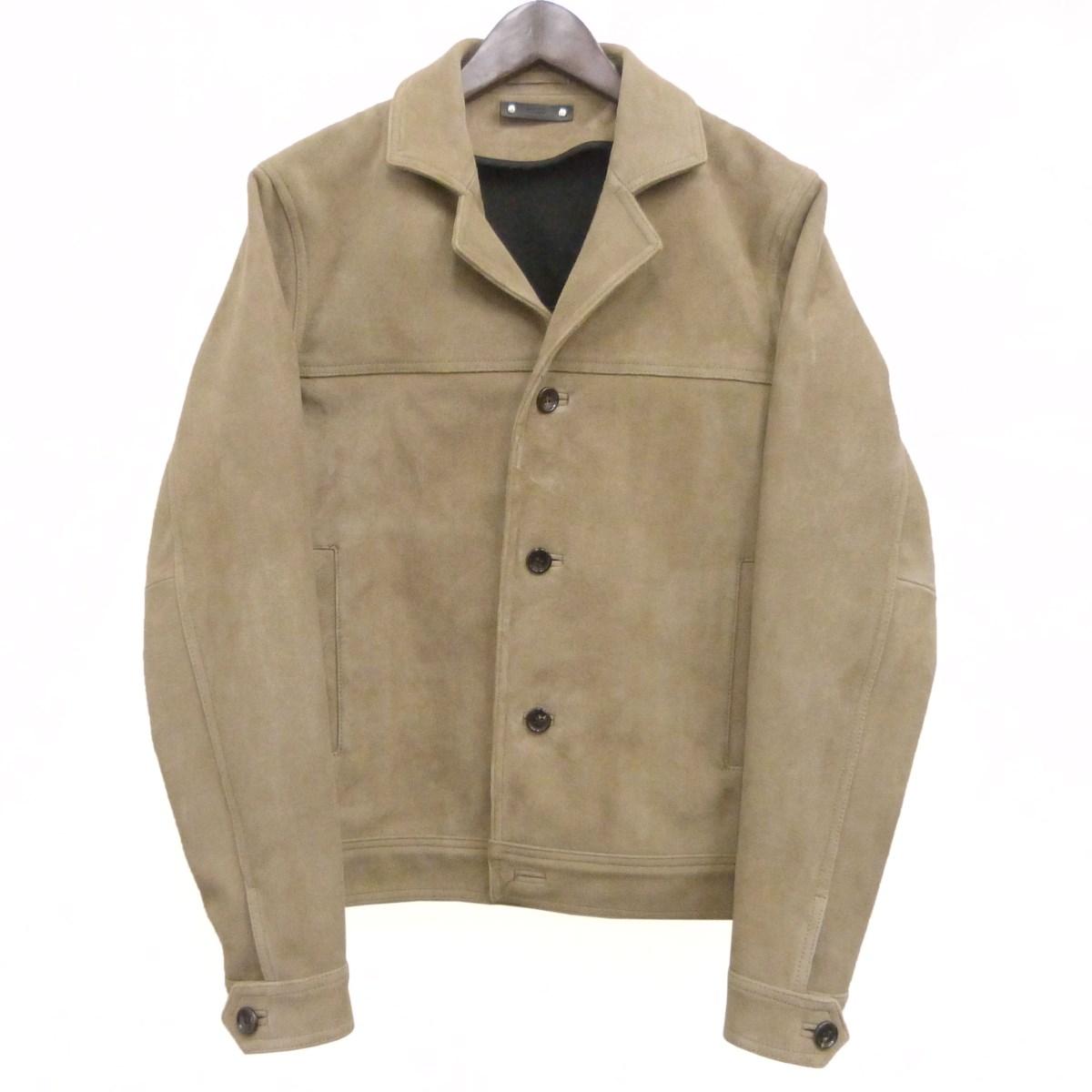 【中古】MINEDENIM 「Suede Leather 4B JKT」スウェードジャケット ベージュ サイズ:2 【190420】(マインデニム)