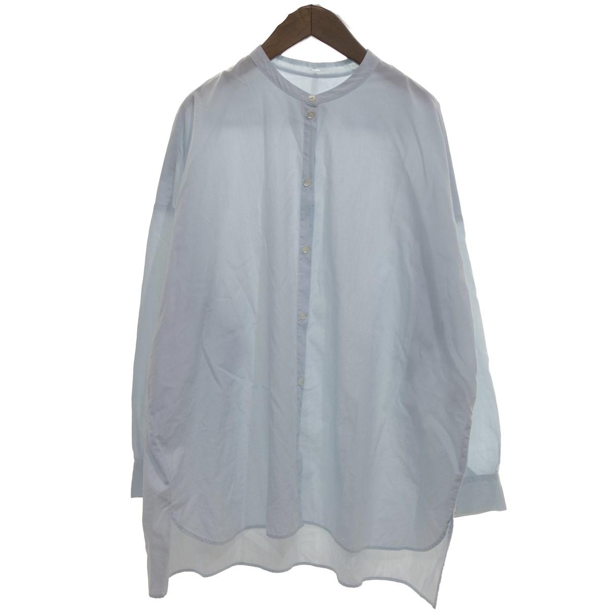 【中古】GALLEGO DESPORTES バンドカラー長袖シャツ ライトブルー サイズ:S 【200420】(ギャレゴデスポート)
