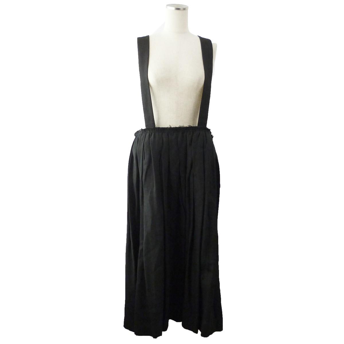 【中古】COMME des GARCONS 15SS サスペンダースカート ブラック サイズ:s 【200420】(コムデギャルソン)