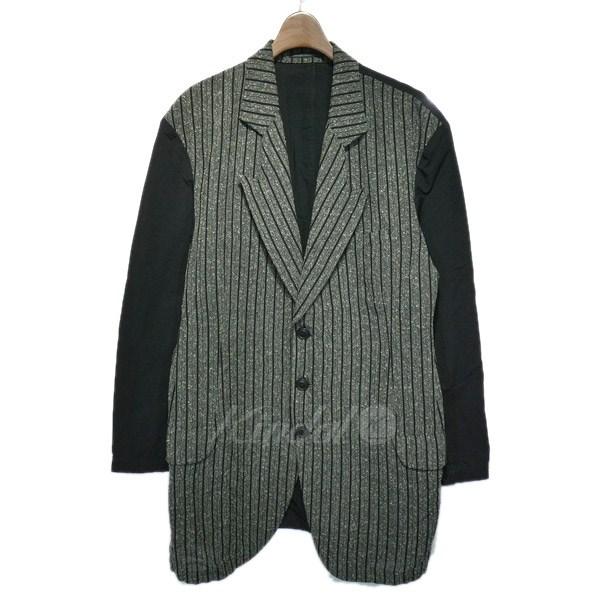 【中古】YOHJI YAMAMOTO pour homme 2017AW 切替ロングジャケット グレー×ブラック サイズ:2 【190420】(ヨウジヤマモトプールオム)
