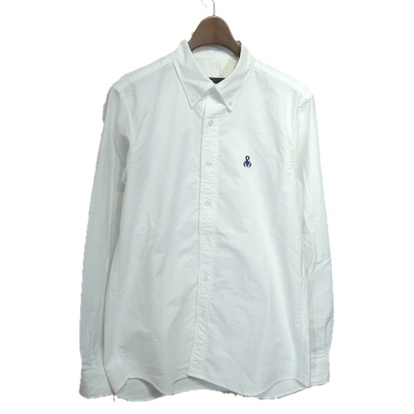【中古】SOPHNET. 2020SS「SLEEVE PANELED B.D SHIRT」ボタンダウンシャツ ホワイト サイズ:M 【200420】(ソフネット)