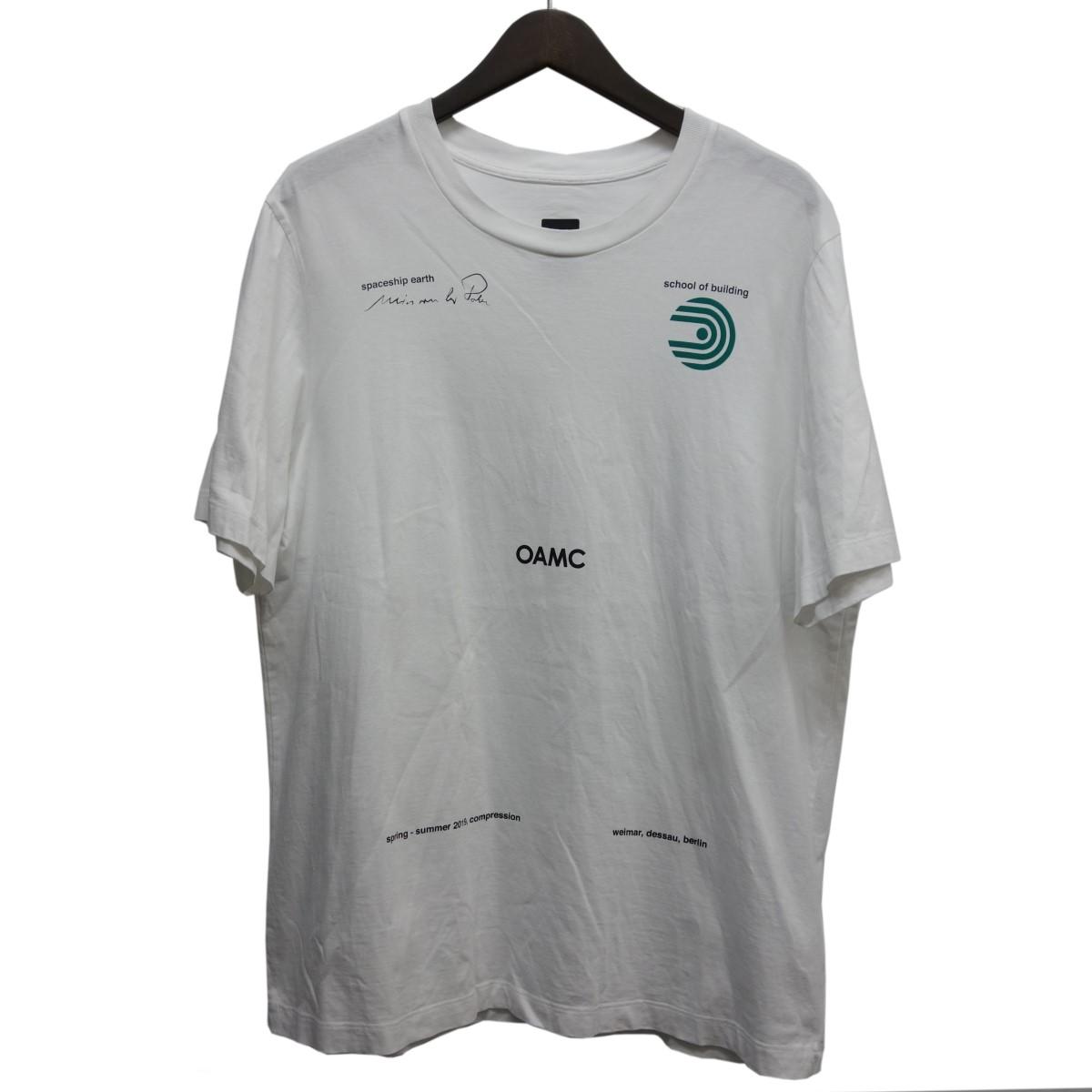 【中古】OAMC 19SSプリントTシャツ ホワイト サイズ:M 【190420】(オーエーエムシー)