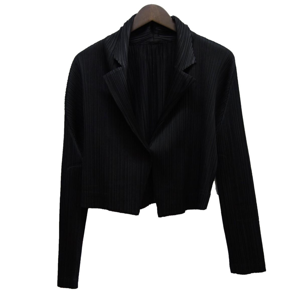 【中古】PLEATS PLEASE 19SS ノッチドラペル1Bプリーツジャケット ブラック サイズ:3 【190420】(プリーツプリーズ)