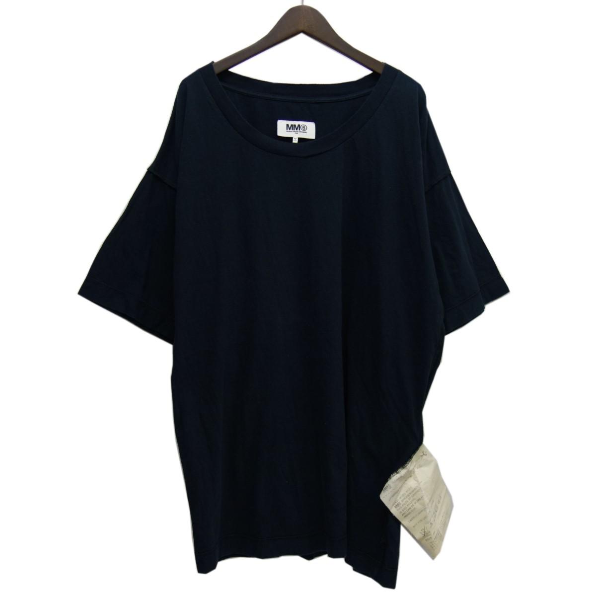 【中古】MM6 15SSインサイドアウトオーバーTシャツ ブラック サイズ:UNI 【190420】(エムエムシックス(マルタンマルジェラ6))