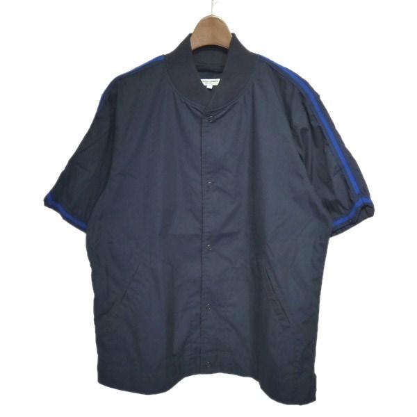【中古】Engineered Garments × BEAMS PLUS メッシュ切替半袖シャツジャケット ネイビー サイズ:L 【200420】(エンジニアードガーメンツ×ビームスプラス)