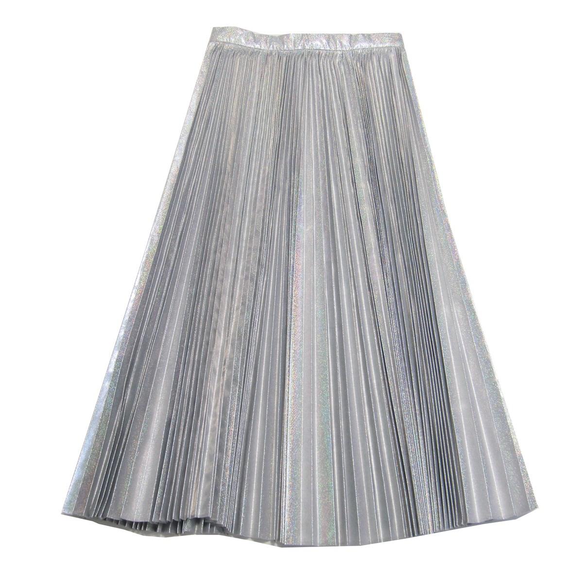 【中古】IRENE 2019AW Hologram Pleated Skirt シルバープリーツスカート シルバー サイズ:36 【200420】(アイレネ)